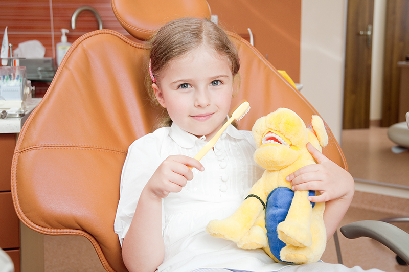 young patient at a pediatric dentist